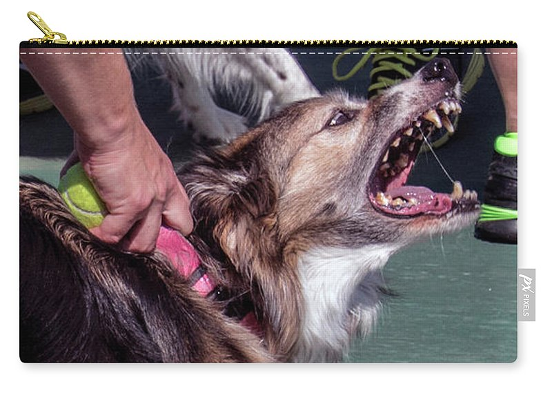 Dog Carry-all Pouch featuring the photograph Snarl by Brian Kenney