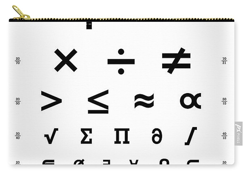 Snellen Chart Mathematical Symbols Carry All Pouch For Sale By