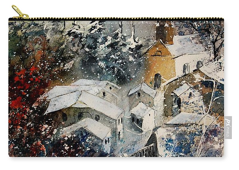 Landscape Carry-all Pouch featuring the painting Snon In Frahan by Pol Ledent