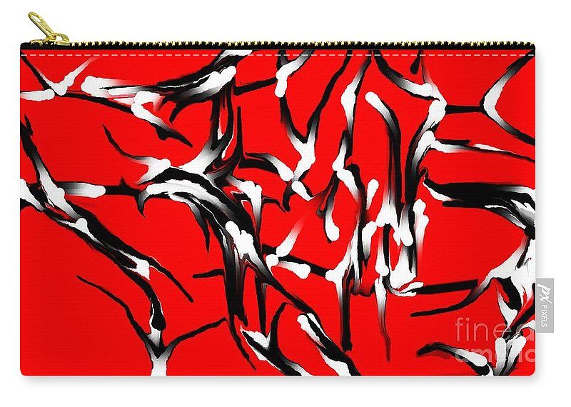 Abstract Carry-all Pouch featuring the digital art Snoopys Dance by David Lane