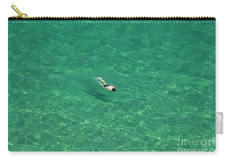 Snorkeling Carry-all Pouch featuring the photograph Snorkeling by David Lee Thompson