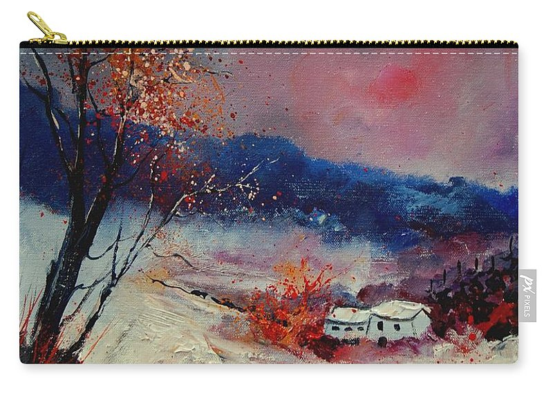 Winter Carry-all Pouch featuring the painting Snow 569020 by Pol Ledent
