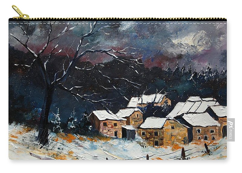 Snow Carry-all Pouch featuring the painting Snow 57 by Pol Ledent