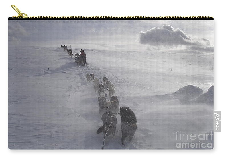 Landscape Carry-all Pouch featuring the photograph Snow And Clouds by Sarah Bevard
