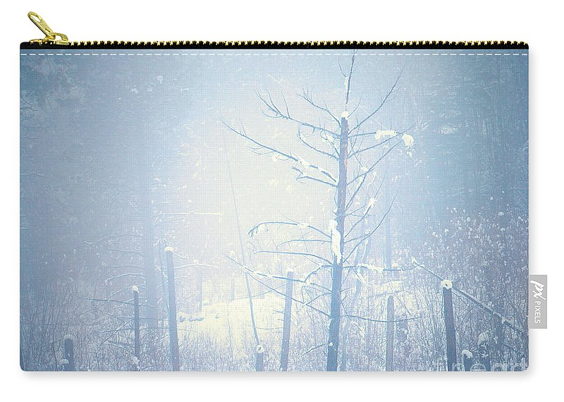 Snow Carry-all Pouch featuring the photograph Snow And Remnants Of The Fire 2 by Tara Turner