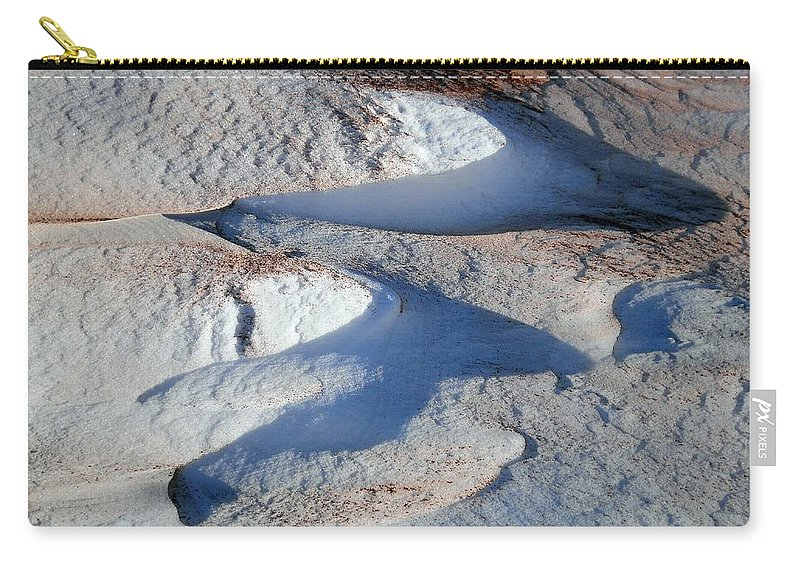 Landscape Carry-all Pouch featuring the photograph Snow And Sand by Wolfgang Schweizer