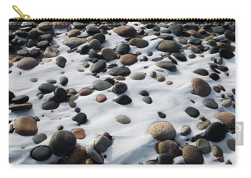 Landscape Carry-all Pouch featuring the photograph Snow And Stone by Michael Peychich
