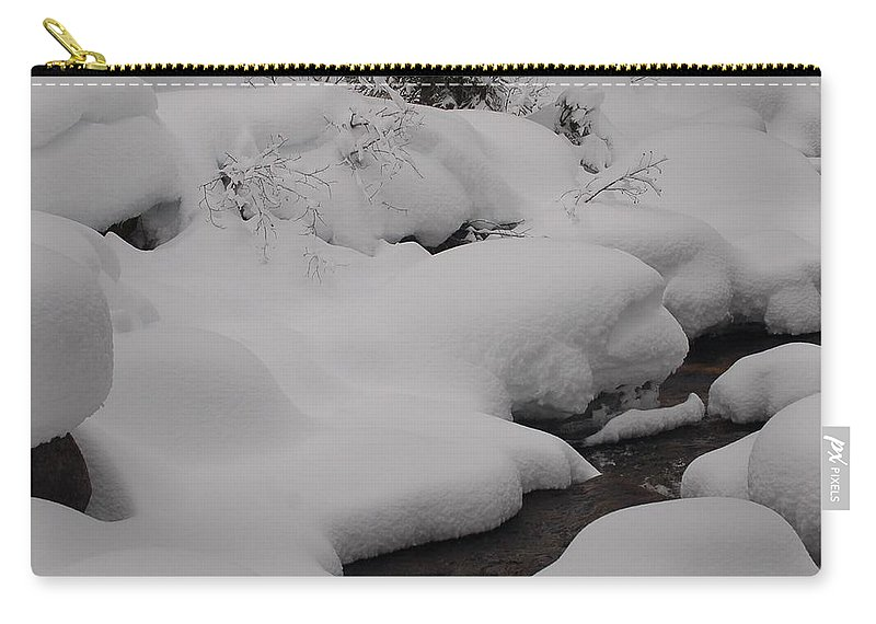 Snow Carry-all Pouch featuring the photograph Snow Blanket by Lucy Bounds