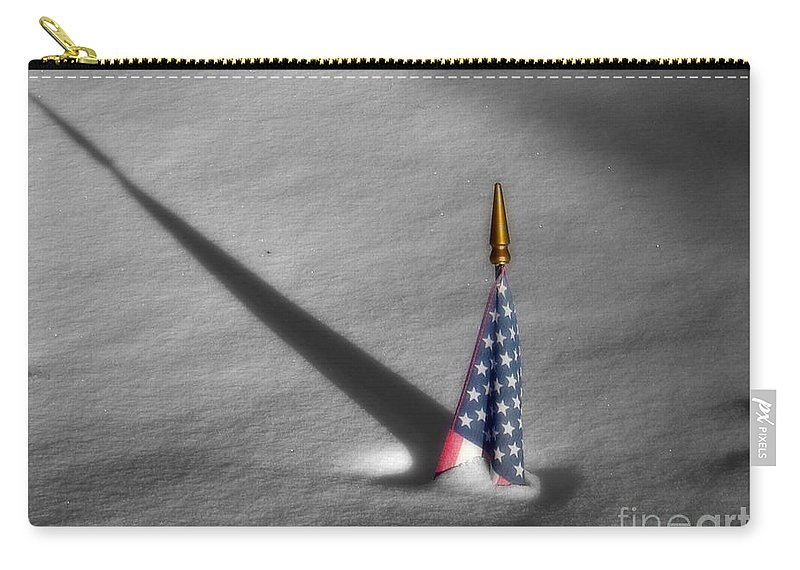 Snow Carry-all Pouch featuring the photograph Snow Bound by Rick Monyahan