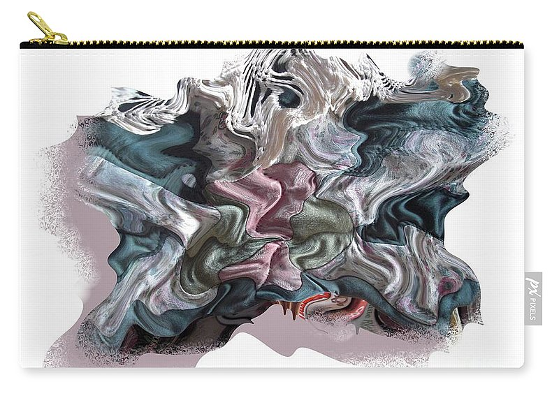 Abstract Carry-all Pouch featuring the digital art Snow Capped Cloth by Ron Bissett