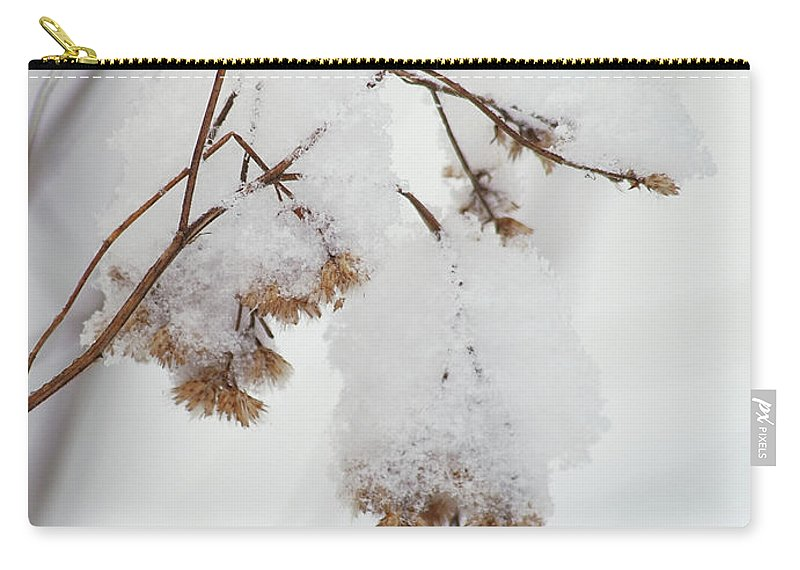 Snow Carry-all Pouch featuring the photograph Snow Capped by Michael Peychich