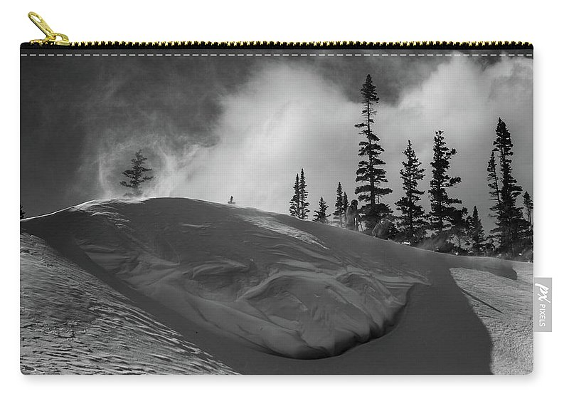 Landscape Carry-all Pouch featuring the photograph Snow Circle In The Mountains by Rob Lantz
