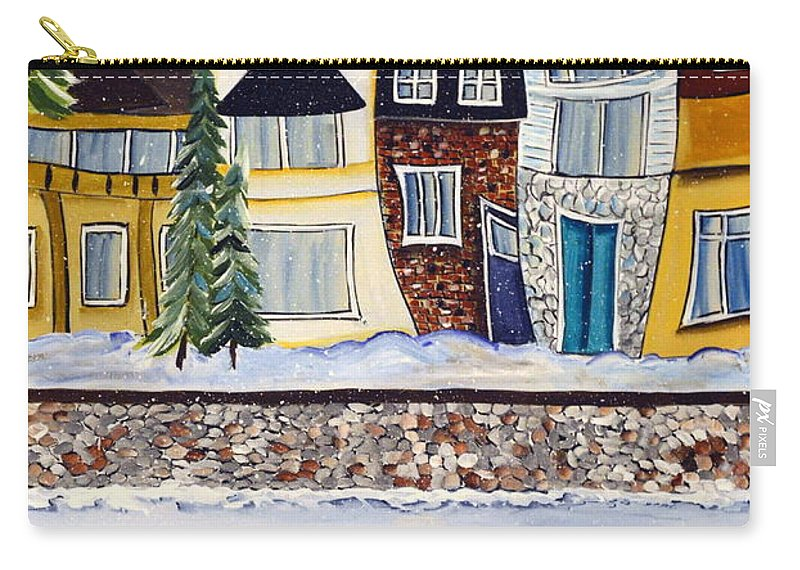 Acrylic Carry-all Pouch featuring the painting Snow Day by Heather Lovat-Fraser