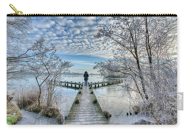 Majestic Carry-all Pouch featuring the photograph Snow Fantasy by Nadia Sanowar