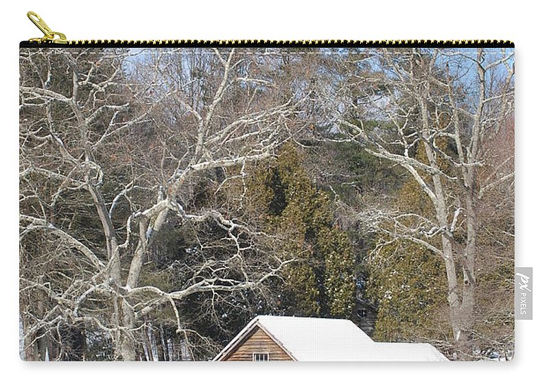 Snow Carry-all Pouch featuring the photograph Snow On The Mill 2 by Eric Liller