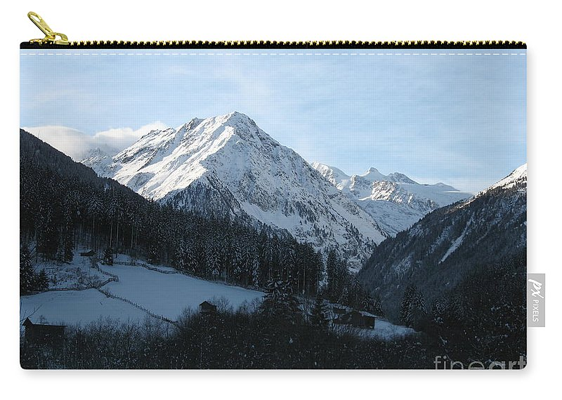 Snow Carry-all Pouch featuring the photograph Snow On The Mountains by Christiane Schulze Art And Photography