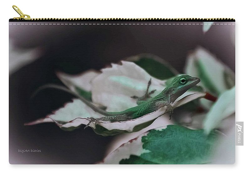 Lizard Carry-all Pouch featuring the photograph Snow Queen Hammock by DigiArt Diaries by Vicky B Fuller