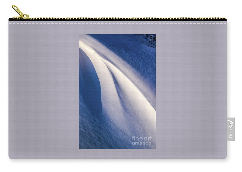 Snow Carry-all Pouch featuring the photograph Snow Shapes Xix by Charles Norkoli