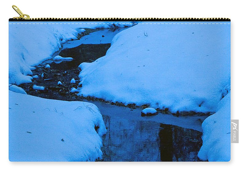 Snow Carry-all Pouch featuring the photograph Snow Stream by David Campbell