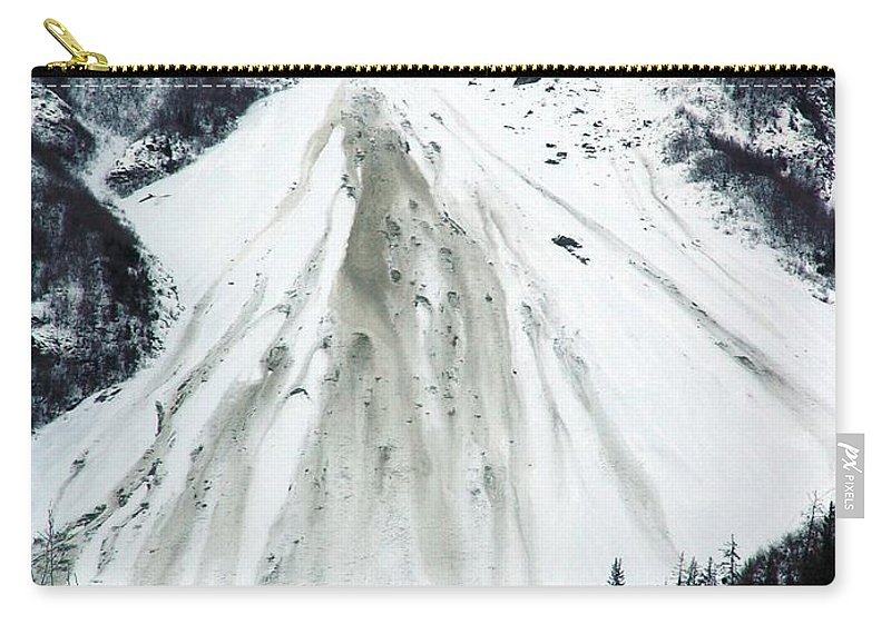 Landscape Carry-all Pouch featuring the photograph Snow Then Land Slide by Ron Bissett