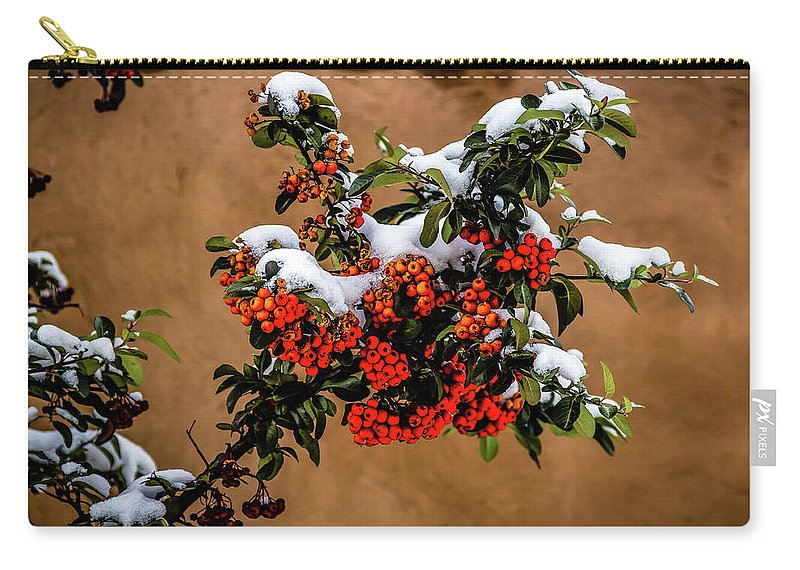 Jon Burch Carry-all Pouch featuring the photograph Snowberries by Jon Burch Photography