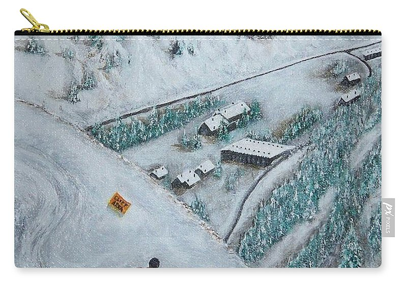 Ski Carry-all Pouch featuring the painting Snowbird Steeps by Michael Cuozzo