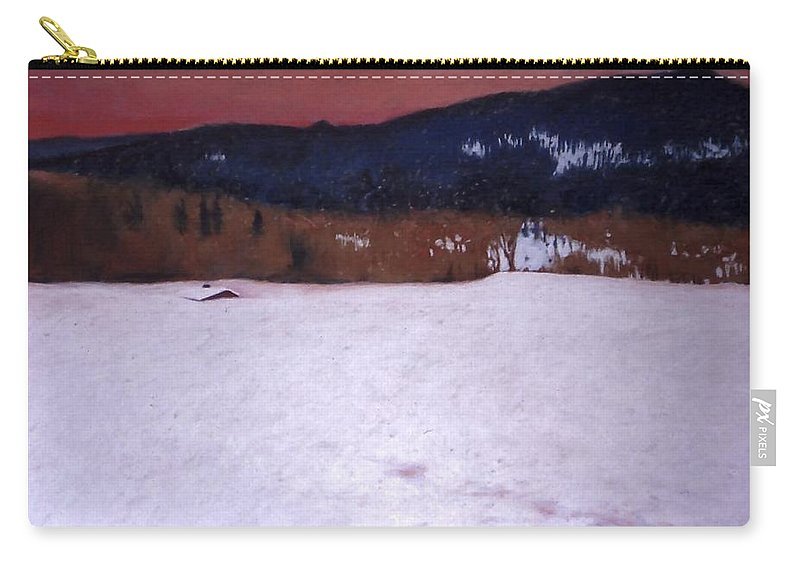 Pastel Carry-all Pouch featuring the painting Snowbound by Mary McInnis