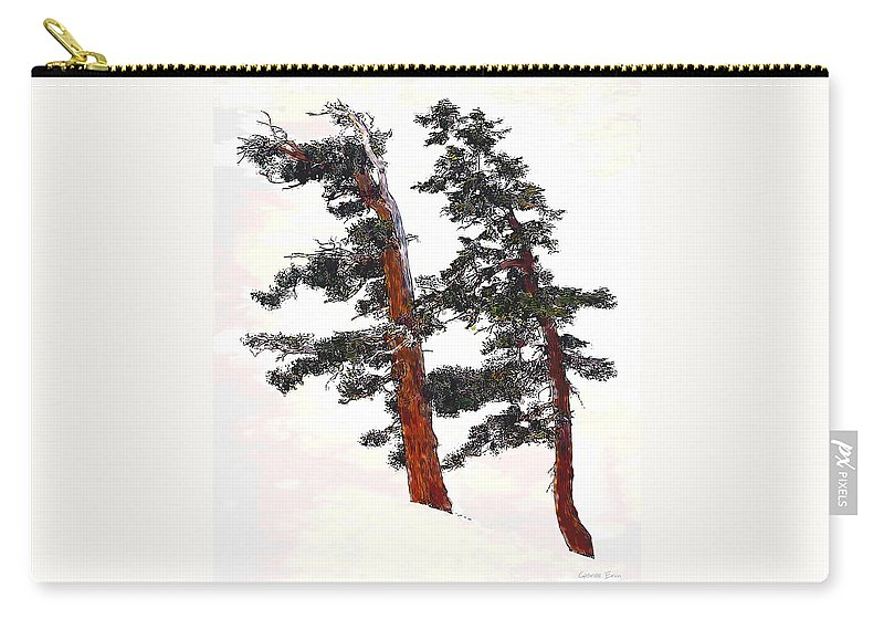 Trees Carry-all Pouch featuring the digital art Snowdrift by Gabriele Ervin