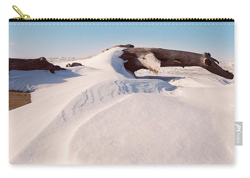 Snow Carry-all Pouch featuring the photograph Snowdrift by Michael Peychich