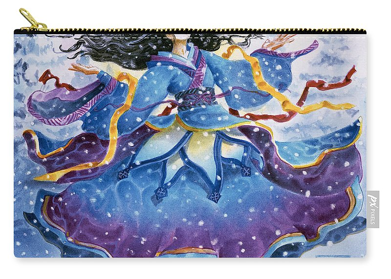 Snow Carry-all Pouch featuring the painting Snowfall by Melissa A Benson