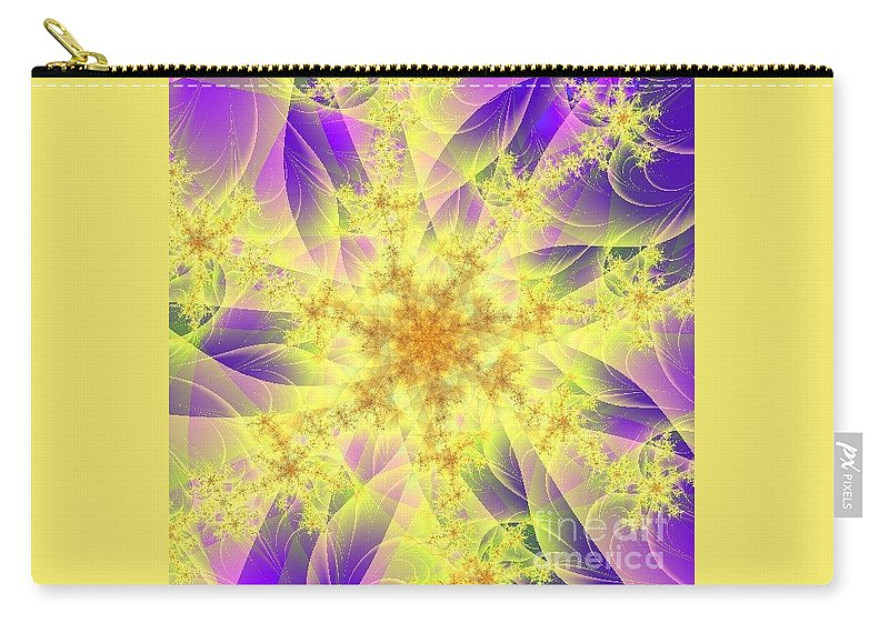 Digital Art Carry-all Pouch featuring the digital art Snowflake by Dragica Micki Fortuna