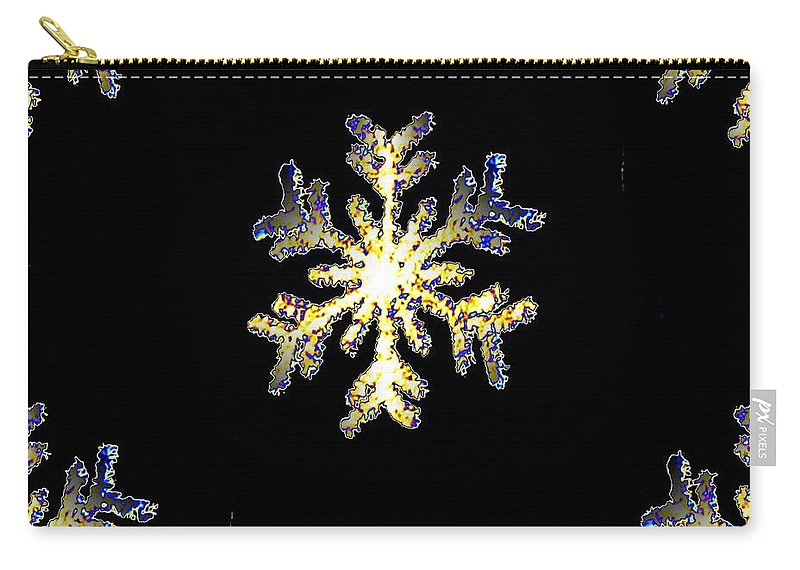 Snow Carry-all Pouch featuring the photograph Snowflakes by Tim Allen