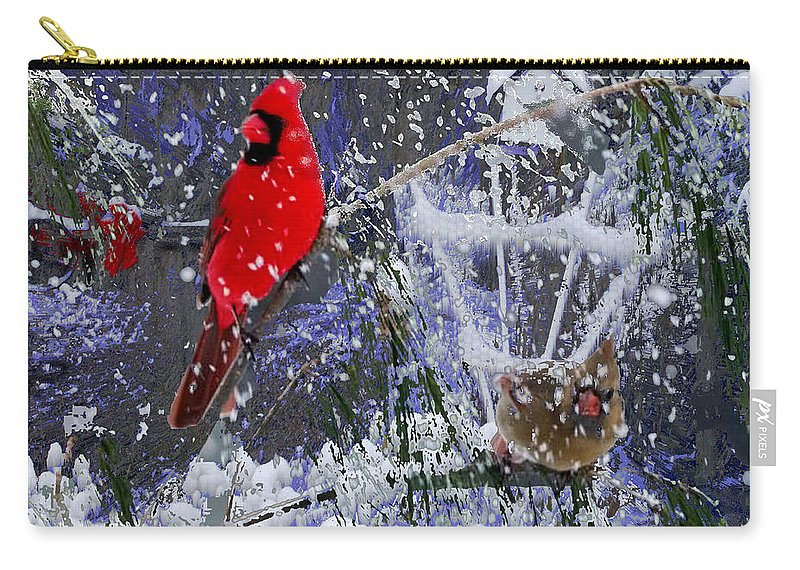 Snowstorm Carry-all Pouch featuring the photograph Snowstrom by Seth Weaver