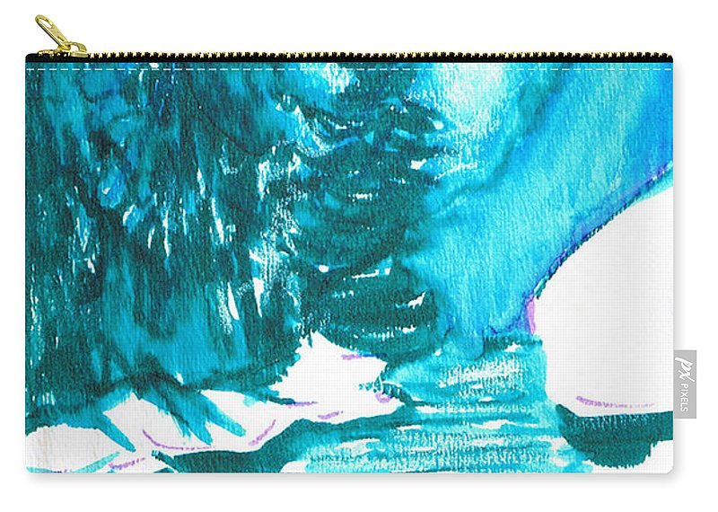 Chilling Carry-all Pouch featuring the mixed media Snowy Creek Banks by Seth Weaver