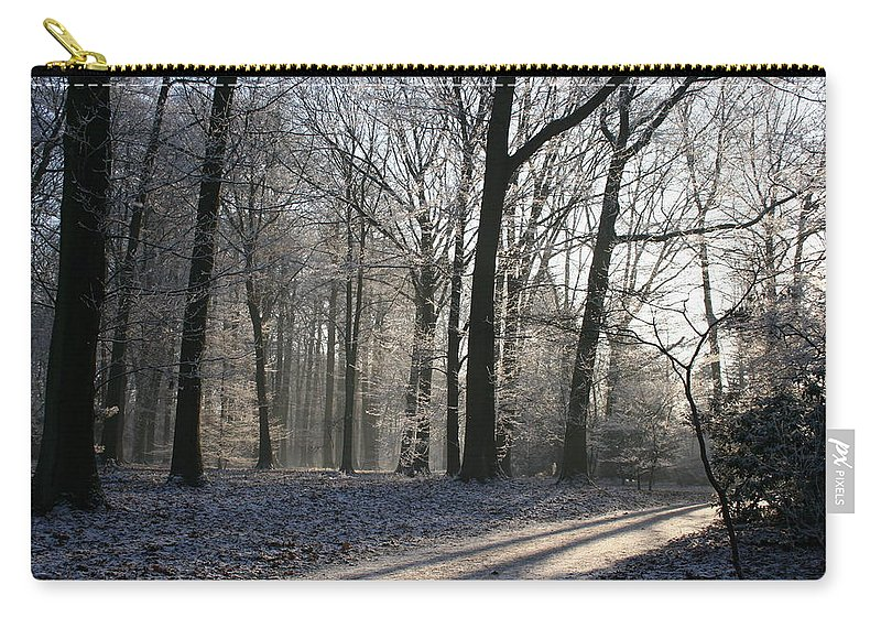 Light Carry-all Pouch featuring the photograph Mystical Winter Landscape by Christiane Schulze Art And Photography