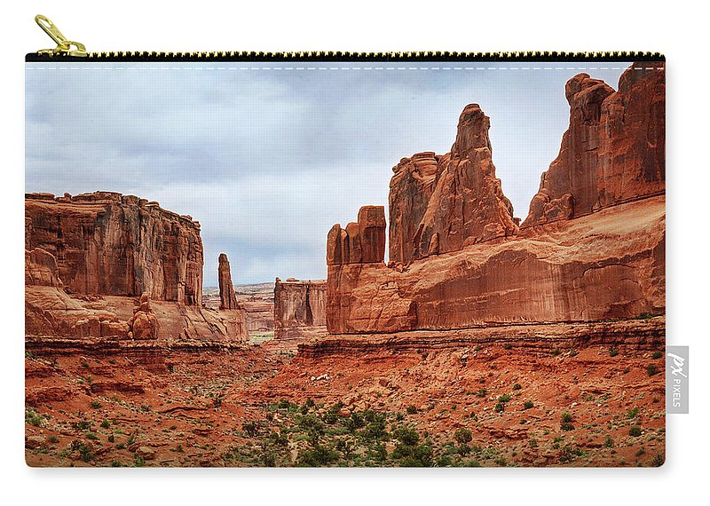 Arches National Park Carry-all Pouch featuring the photograph So Awesome by Michael Ciskowski