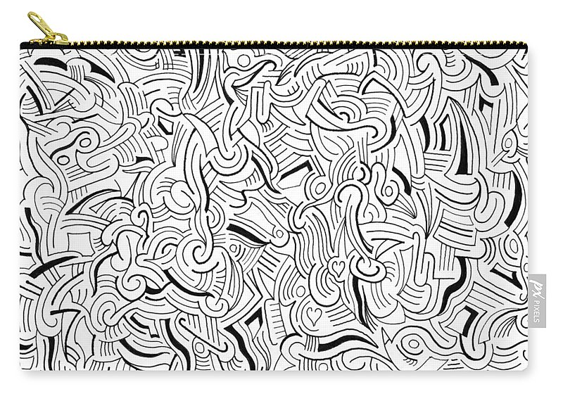 Abstract Carry-all Pouch featuring the drawing So Close Yet So Far by Steven Natanson