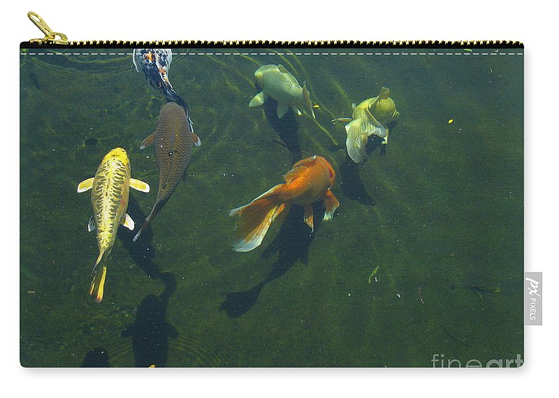 Patzer Carry-all Pouch featuring the photograph So Koi by Greg Patzer