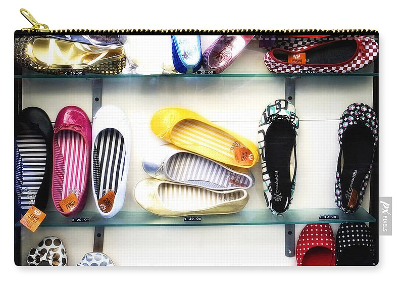 Shoes Carry-all Pouch featuring the photograph So Many Shoes... by Marilyn Hunt
