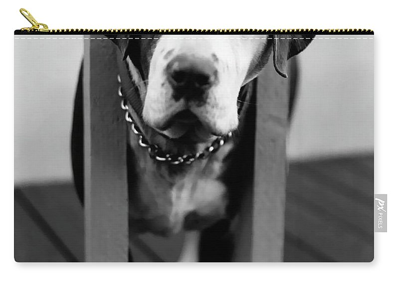 Black And White Carry-all Pouch featuring the photograph So Sad by Peter Piatt