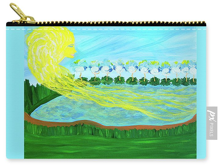 Sun Carry-all Pouch featuring the painting So Wrapped Up In You by Sara Credito