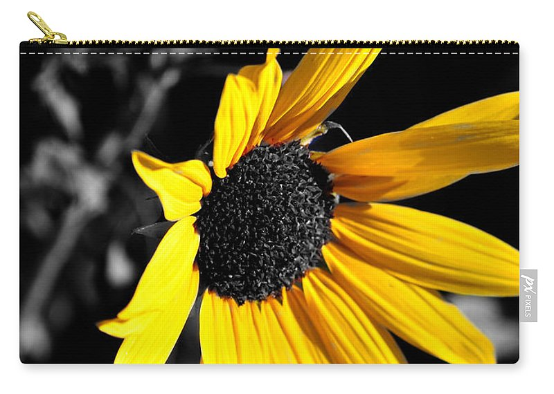Clay Carry-all Pouch featuring the photograph Soaking Up The Yellow Sunshine by Clayton Bruster