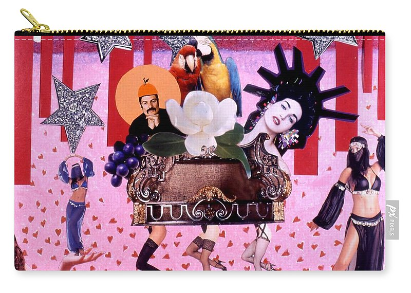 Collage Carry-all Pouch featuring the drawing Soap Scene # 28 You Have Seen That Movie Too by Minaz Jantz