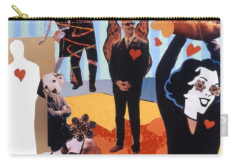 Hearts Carry-all Pouch featuring the drawing Soap Scene #18 Burn in Heaven at the Club Relish by Minaz Jantz