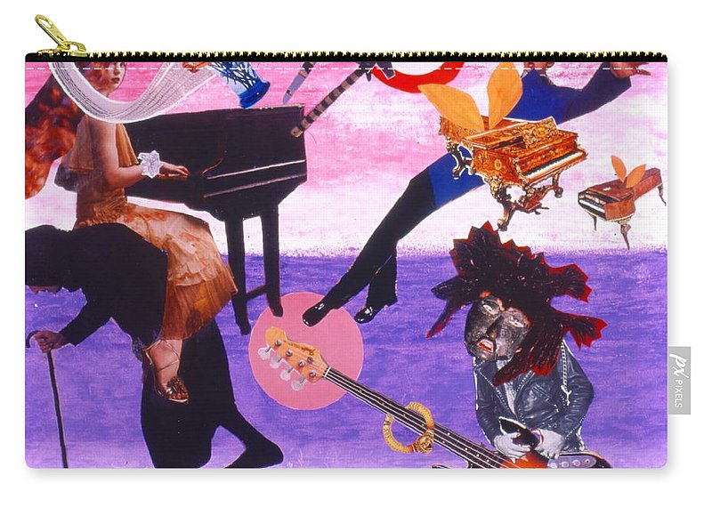 Grand Piano Carry-all Pouch featuring the drawing Soap Scene #21 Beggar Belief by Minaz Jantz