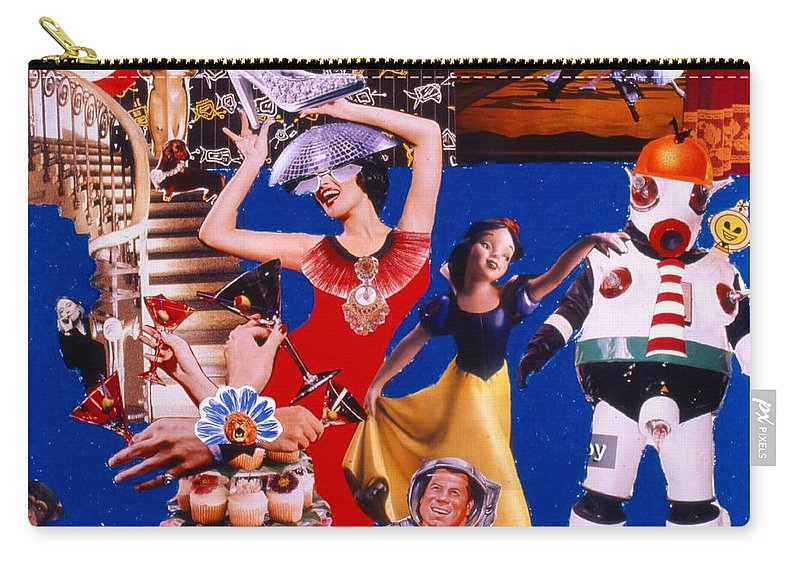 Surreal Carry-all Pouch featuring the drawing Soap Scene #23 Oscar's Kiss of Success by Minaz Jantz