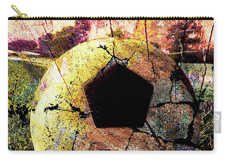 Soccer Carry-all Pouch featuring the digital art Soccer Art by Takumi Park