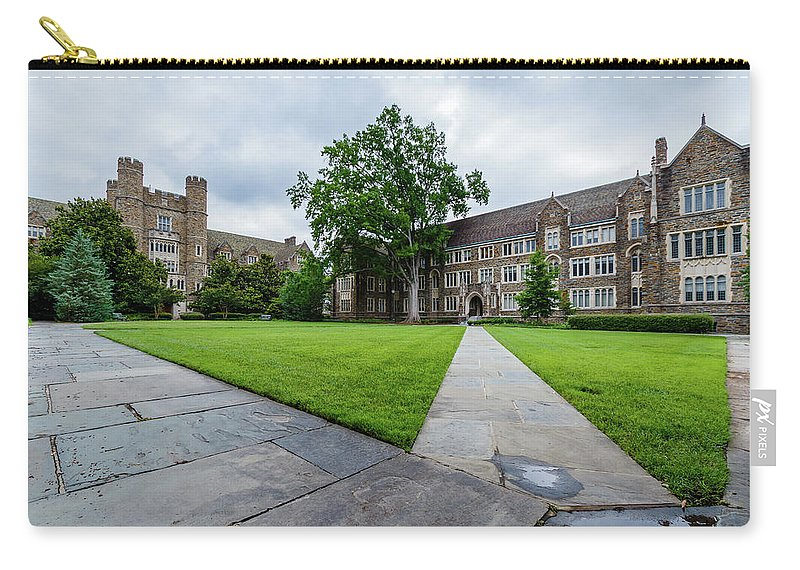 Architecture Carry-all Pouch featuring the photograph Sociology-psychology Building At Duke University by Bryan Pollard