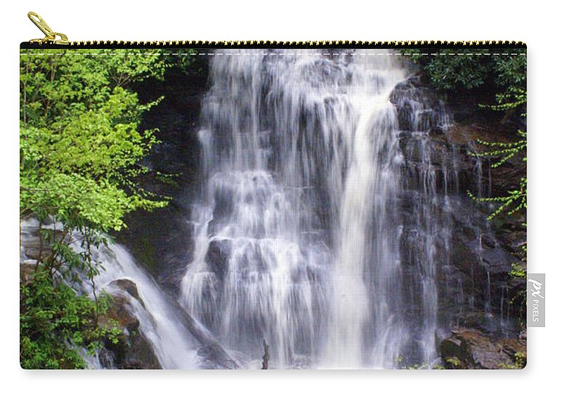 Soco Galls Carry-all Pouch featuring the photograph Soco Falls 1 by Marty Koch