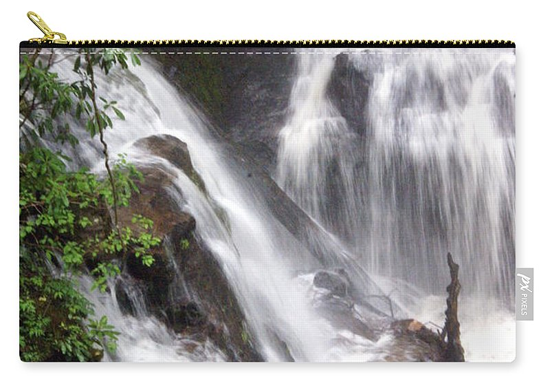 Soco Galls Carry-all Pouch featuring the photograph Soco Falls 2 by Marty Koch